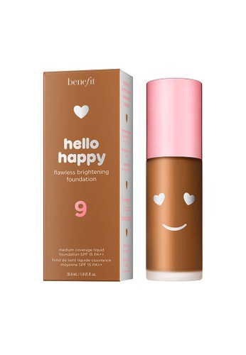 Benefit beige Hello Happy Flawless Brightening Foundation Shade 09 52B10BE5E48D80GS_1
