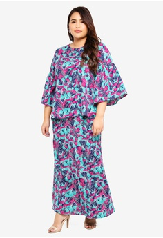 ff769a0c81df30 Ms. Read blue and purple Printed Bell Sleeve Kurung 6ACF5AA433EBFDGS_1