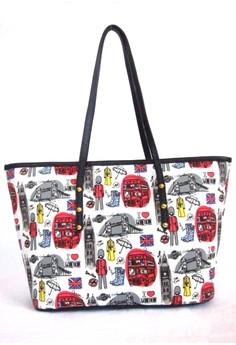 Travel Print Tote Bag