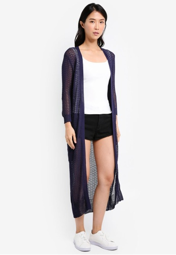 ZALORA navy Knitted Cardigan 6034AAAF496204GS_1