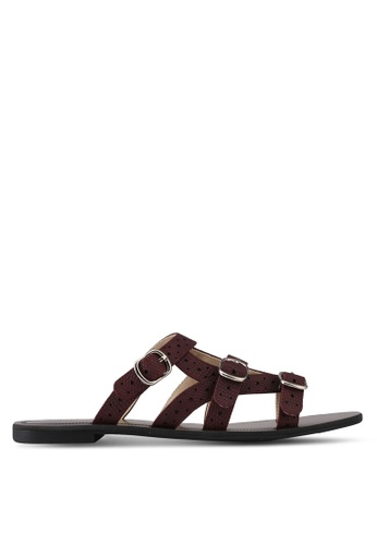 Something Borrowed red Sandals With Strap Details A911CSH60E0B50GS_1