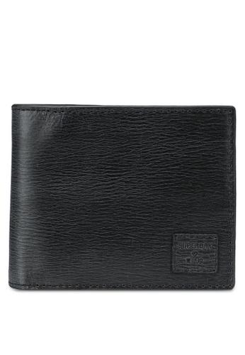 SUPERDRY black Benson Boxed Bi Fold Wallet - Original & Vintage B0C39ACCF29A04GS_1