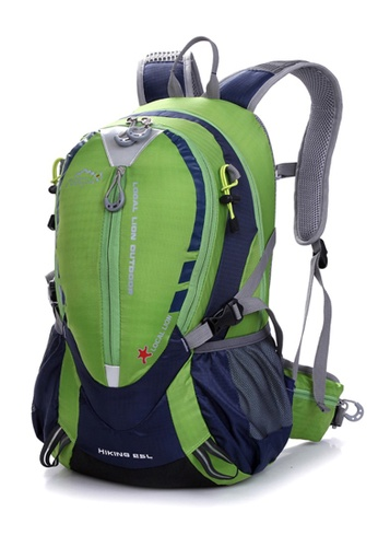 Local Lion green Local Lion Multi Purpose Lightweight Casual Daypack Cycling Hiking Backpack HIKING 25L (Green) LO780AC70QIJMY_1