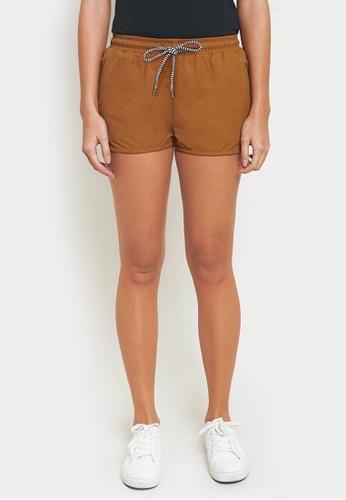 Penshoppe brown Runner Shorts 324F8AA9AB000AGS_1