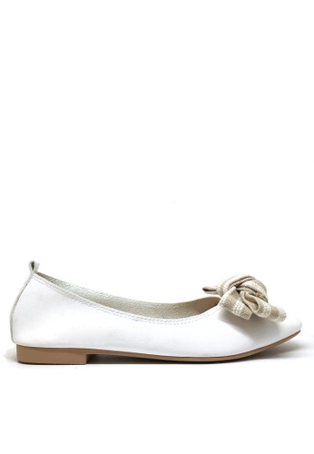 Twenty Eight Shoes 白色 蝴蝶結柔軟平底鞋T1140-75 FCE7ESH780FC92GS_1