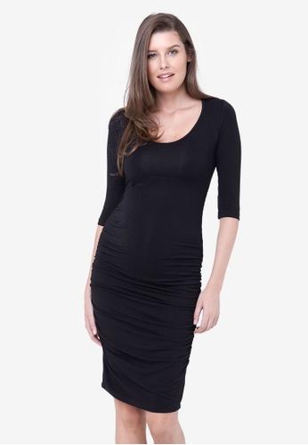 Ripe Maternity black Maternity Cocoon Dress 824A2AAFD254B1GS_1