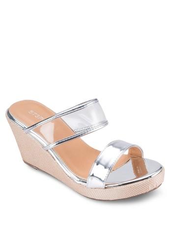透明寬帶懶人楔型鞋, 女鞋esprit衣服目錄, 楔形涼鞋
