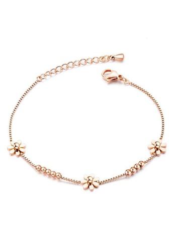 YOUNIQ YOUNIQ DOYC Daisy 18K Rosegold Florish Your Life Titanium Steel Bracelet 81F79AC7D6B94AGS_1
