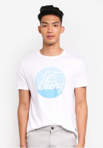Burton Menswear London 白色 短袖印花T恤 C32A2AACC00A07GS_1