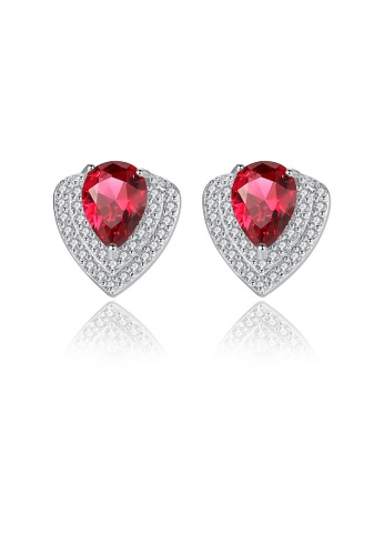 SUNRAIS silver High quality Silver S925 silver simple design earrings 68262AC758C5C1GS_1