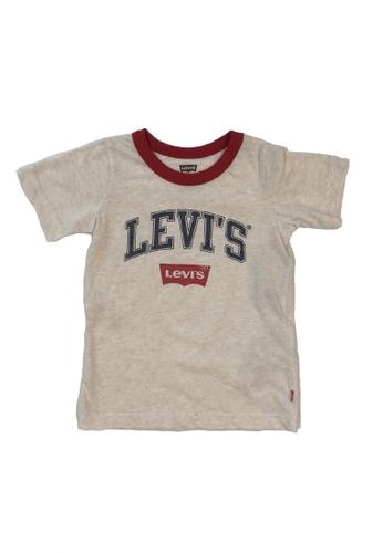 Levi's Kids beige LEVI'S Boys Mod Collegiate Arch Tee 06AB5KAAECB882GS_1