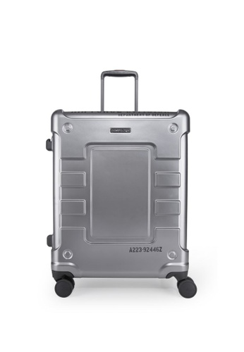 """Lushberry black and red and yellow and green and silver Airwolf 4 Hardcase Luggage- 23"""" 21612AC63E1A43GS_1"""