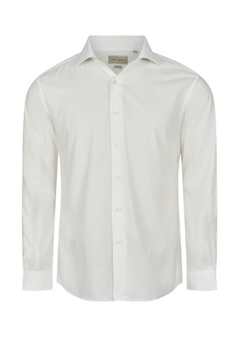 Gay Giano white Slim Fit Wid Spread Collar Dress Shirt 7697AAADC80494GS_1