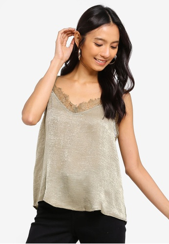 Cotton On beige Ariel Lace Cami Top 04185AAF118605GS_1