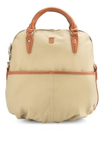 PUesprit taiwan 滾邊三用尼龍手提包, 包, 手提包