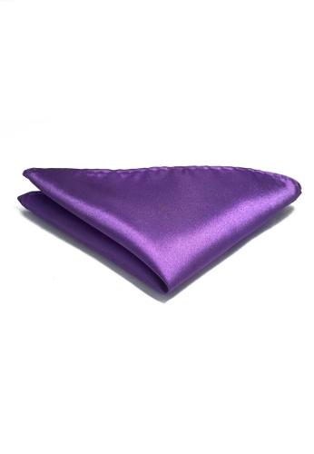 257efd8847a Splice Cufflinks Lustrous Series Fuchia Purple Polyester Pocket Square  SP744AC30KVLSG 1
