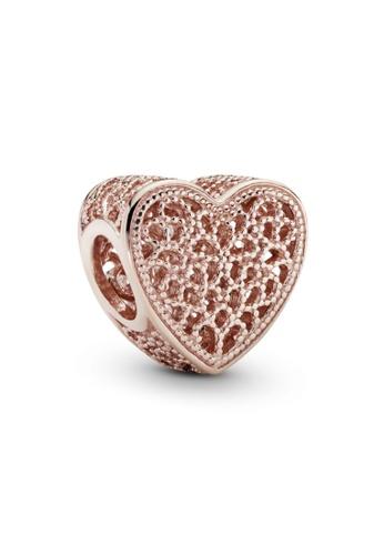 PANDORA silver Pandora Rose Filigree and Beaded Heart Charm 62C3EACB2090A3GS_1