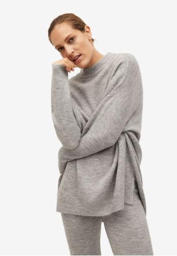 Mango grey Oversize Sweater 7E026AA6FE635BGS_1