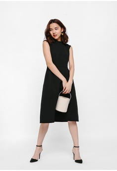 986a6f121d97 Love, Bonito black High Neck Midi Flare Dress B1B18AA2008541GS_1