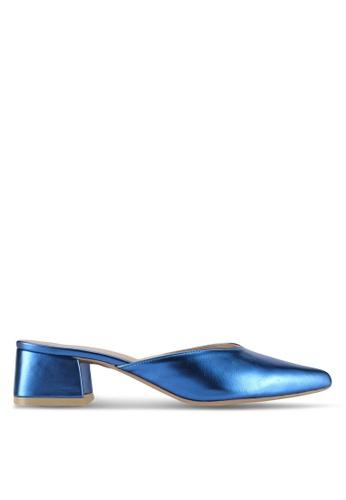 Cipela For Lubna blue Cora Mule Block Heels 55DB6SH7EEBFADGS_1
