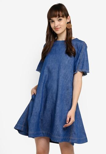 ef5f88fd3fd7 Buy ESPRIT Denim Mini Dress Online on ZALORA Singapore