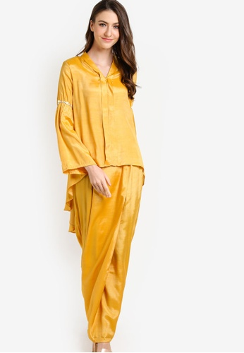 Gene Martino yellow Baju Kurung Modern GE222AA26JDPMY_1
