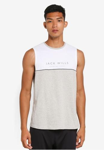 Jack Wills grey Haydon Sport Vest 44941AA5E9A4EDGS_1
