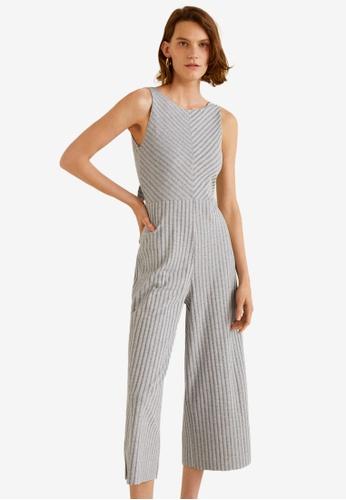 Mango grey Knit Jumpsuit F8E83AA2017698GS_1