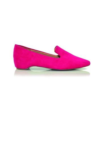 SHINE pink Point Toe Pumps With Hidden Heels SH554SH0G1PVSG_1
