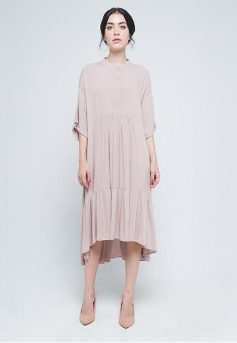 9 to 12 pink Dublin Midi Dress 3E77BAA0A98441GS_1