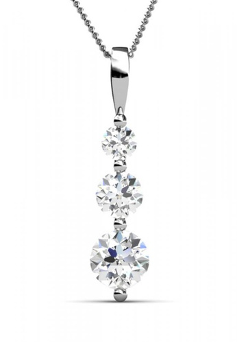 Her Jewellery silver Swarovski® Zirconia -Journey Pendant (18K White Gold Plated) Her Jewellery HE581AC0RDJ4MY_1