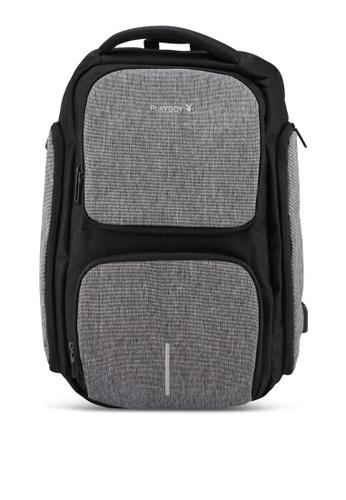 Playboy black Backpack C1BD3AC70C5955GS_1