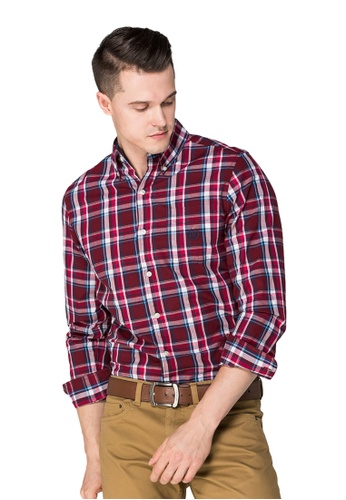 deefa1f9036fbc CHAPS white and red and blue Chaps Plaid Casual Button Down Shirt  CH325AA0S7HJMY_1