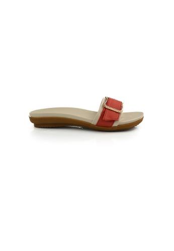 SHINE orange Crystal Buckle Sandals SH554SH0GYTLSG_1