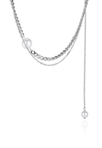 CELOVIS silver CELOVIS - Noemie on Multi Layer Chain with Pearl Necklace in Silver AA554AC3254F29GS_1