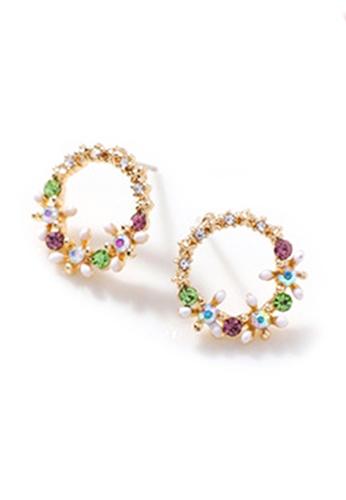 YOUNIQ multi YOUNIQ Basic Korean Mini Florist Garden Round Stud Earrings A1D57ACAAD68FEGS_1