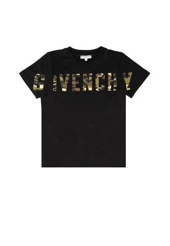 GIVENCHY KIDS black GIVENCHY BOYS T-SHIRT B64EAKAFD491E0GS_1