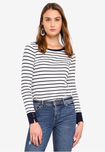 ESPRIT white Long Sleeve T-Shirt AB30DAA9BB0E22GS_1