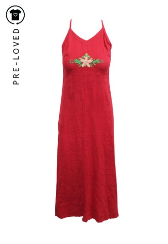 Reformation red Pre-Loved reformation Red Maxi Dress With Embroidery 9AC97AAA6AD565GS_1