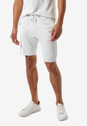 Burton Menswear London grey MB Collection Side Stripe Shorts 1BEC9AA1FC4532GS_1