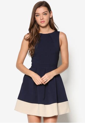 撞色傘擺esprit 品牌洋裝, 服飾, 服飾