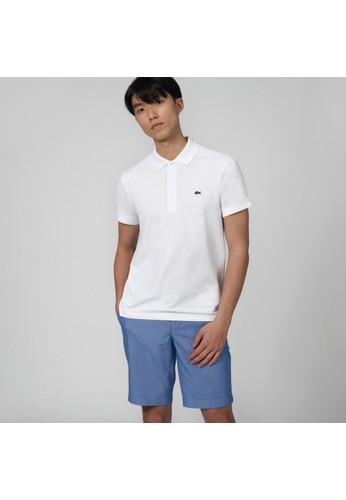Lacoste white Men's Lacoste Stretch Mini Cotton Piqué Slim Fit Polo AD94FAAD310985GS_1