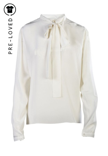 Rochas white Pre-Loved rochas Turtle Neck Top A2ED7AAD1F9A2BGS_1