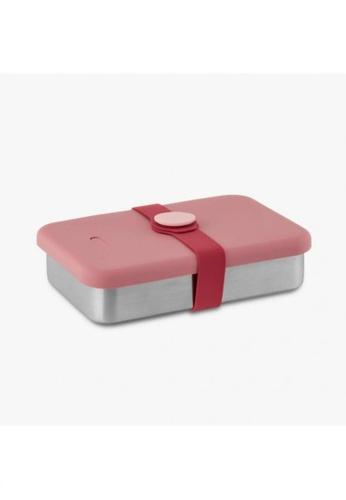 Viida [VIIDA] The Morgen Series Kasten Stainless Steel Lunch Box Bento Set with Leak-proof lid, Pink - LFGB Germany, FDA & SGS Certified Safe FF60FHL8804F9DGS_1