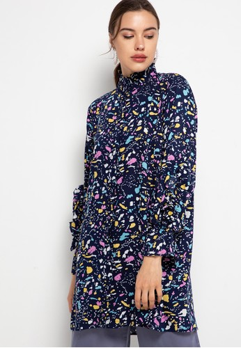 Covering Story navy Fhatan Tunic C5B43AADE361F6GS_1