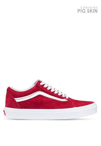 VANS red Old Skool Pig Suede Sneakers D08A0SHDC43218GS_1
