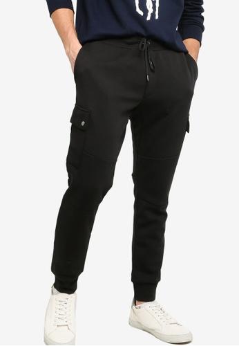 polo ralph lauren black Double Knit Cargo Pants 2970BAAE82C738GS_1