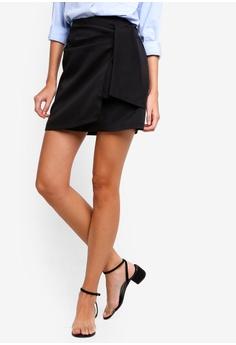 81475812081 ZALORA black Tie Detail Skirt EA7E2AADE049A3GS 1