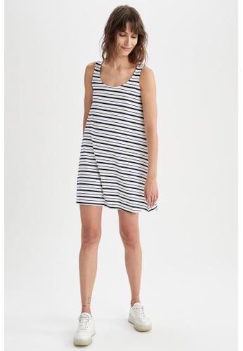 DeFacto navy Sleeveless Mini Dress 60249AA68E77A5GS_1