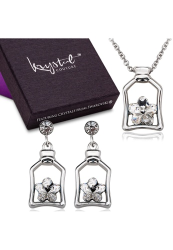 Krystal Couture gold KRYSTAL COUTURE Boxed Cutie Star Necklace & Earrings Set Embellished with Swarovski® crystals-White Gold/Clear 99450AC721A6F9GS_1